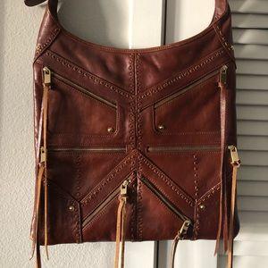 Rebecca Minkoff Crossbody Brown Leather Tassel Bag